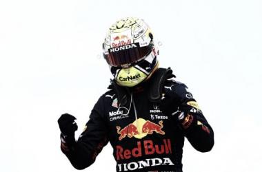 Max celebrando la victoria. (Fuente: f1.com)
