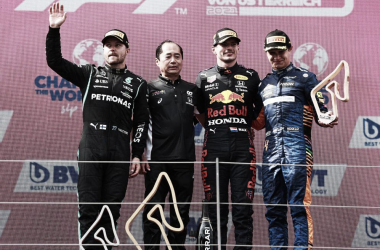 Podio del Gran Premio de Austria. (Fuente: f1.com)