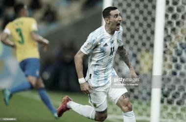 Angel di María, autor del gol más importante de la competencia