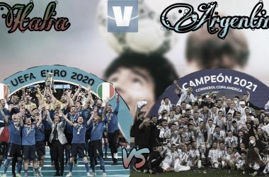 EN PIE. Italia y Argentina se podrían enfrentar en la Copa Diego Maradona. Foto: Vavel Argentina