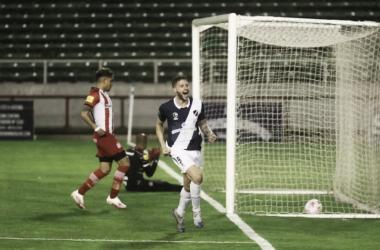 Felipe Cadenazzi festejando el primer gol de la noche FOTO(LA GACETA)