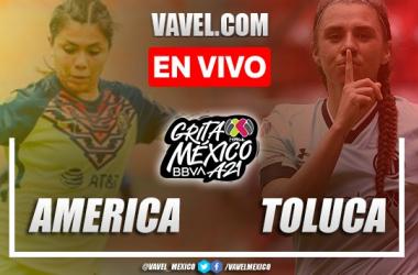 Goles y resumen del Club América Femenil 1-3 Toluca Femenil en Liga MX Femenil 2021