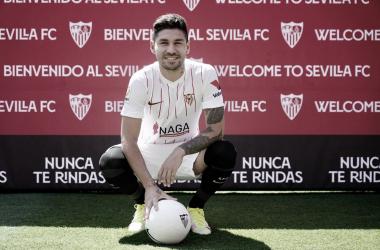 Presentación de Gonzalo Montiel. -Sevilla FC