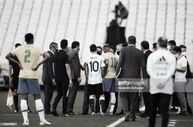 Papelón Mundial: suspendido Brasil vs Argentina