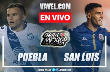 Goles y Resumen del Puebla 2-2 San Luis en la jornada 8 del Apertura 2021