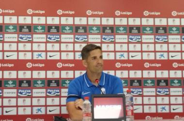 Robert Moreno durante la rueda de prensa. Foto: Jose Castro