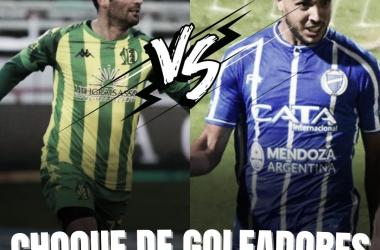 Cauteruccio vs Ojeda, enfrentamiento de goleadores. Foto: Vavel Godoy Cruz