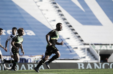 Imagen del festejo del segundo gol (Foto: Aldosivi)