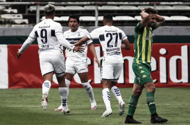 Imagen de la derrota de Aldosivi ante Gimnasia (Foto: La Capital MDQ)