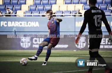 Arnau Comas frente al FC Andorra. Foto: Noelia Déniz, VAVEL