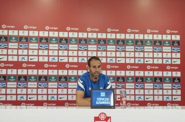 Víctor Díaz durante la rueda de prensa. Foto: Jose Castro