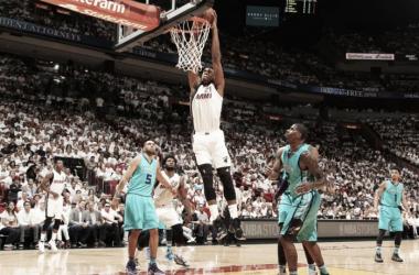 Miami Heat no da opción a Charlotte en el primer partido