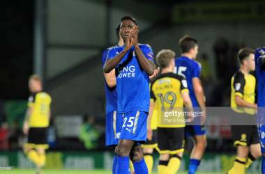 Wilfred Ndidi of Leicester City after the pre season friendly between Burton Albion and Leicester City at Pirelli Stadium on August 1st, 2017 | Photo: Getty/ Plumb Images