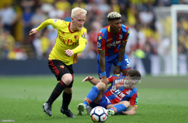 Will Hughes playing against Crystal Palace in the 2017/18 season | Photo by Dan Istitene/Getty Images
