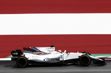 Williams rodando en la pista de Austria | Fuente: @WilliamsRacing