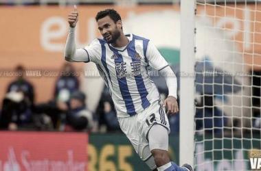 Willian José celebrando un gol | Fotografía: Óscar Alonso