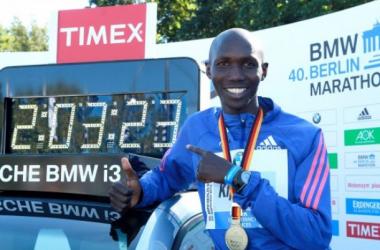 El poseedor del récord del mundo de maratón Wilson Kipsang (Foto: Miguel Calvo).