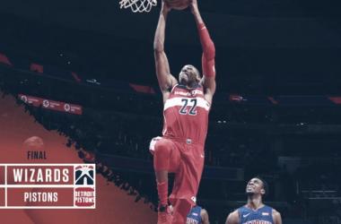 Los Wizards defienden su pabellón en la batalla con Detroit