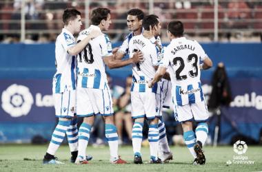 Willian José sera una baja sensible para la Real ante el Barcelona. Foto: La Liga