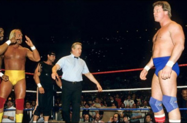 The main event pitted Hulk Hogan and Mr. T against Rowdy Roddy Piper and Paul Orndoff  Photo credt: wwe.com