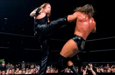 The first of three WrestleMania matches between Triple H and the Undertaker (WWE.com)