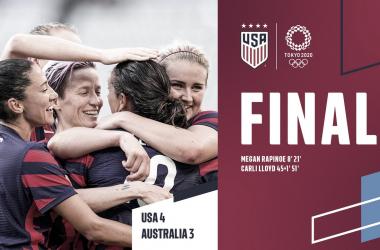 Estados Unidos 4-3 Australia: la actual campeona del mundo ganó la medalla de bronce