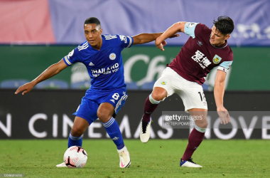 Leicester City's Youri Tielemans and Burnley's Ashley Westwood battle for possession | Photo: Getty / Peter Powell