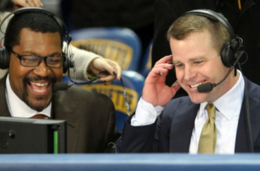 Steve Wojciechowski was all smiles after notching his first win as Marquette coach - GoMarquette.com Photo