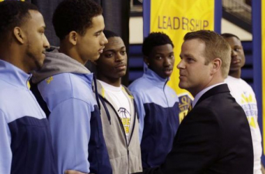 Steve Wojciechowski has taken over from Buzz Williams as head coach at Marquette. The Golden Eagles will kick off their 2014-15 season on Friday against Tennessee-Martin. (Photo Credit: Associated Press)