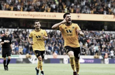 Neves hizo el primer gol de los Wolves. Foto: Wolverhampton.