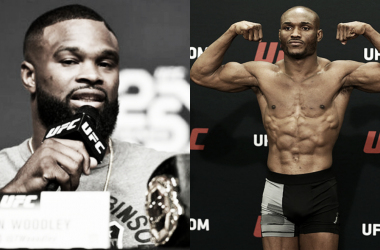 Woodley y Usman, listos para disputar la corona welter de UFC (Fotomontaje: Adrián Gallardo)