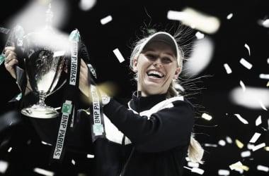 Caroline Wozniacki, campeona de las WTA Finals 2017. Foto: WTA.