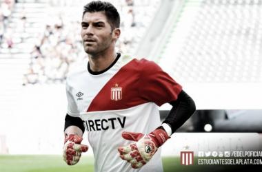 Mariano Andújar pilar de este equipo y de esta victoria. Foto: Prensa Estudiantes