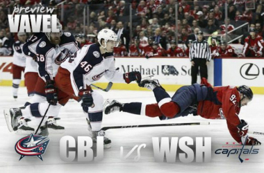 Washington Capitals vs Columbus Blue Jackets playoff preview. (Photomontage: Vavel)