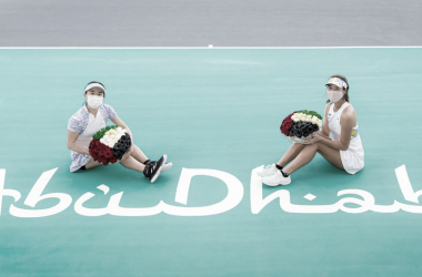Aoyama/Shibahara venceram Carter/Stefani no WTA de Abu Dhabi 2021 (WTA / Divulgação)