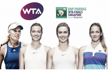 The White Group of the 2018 WTA Finals — Wozniacki, Kvitova, Svitolina, Pliskova