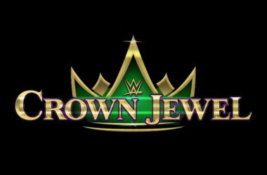 Crown Jewel  banner.  Photo credit: wwe.com