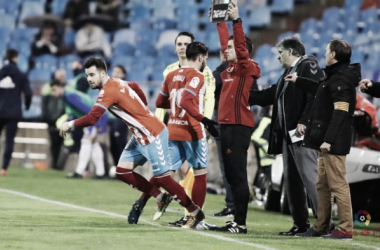 Chuli siendo sustituido frente al Zaragoza | LaLiga