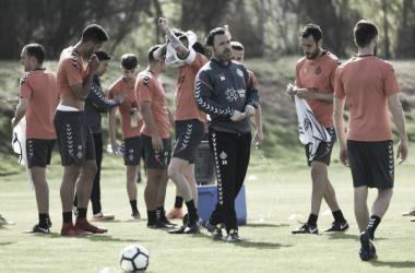 Sergio González durante un entrenamiento con el Real Valladolid la pasada temporada|Foto: Real Valladolid