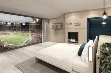 Já pensou em assistir uma partida de futebol deitado na cama? Na casa do Bayern será possível
