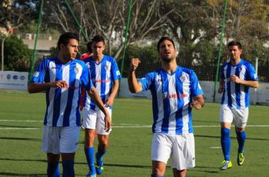 Xisco Hernández celebrando un gol con el Atlético Baleares