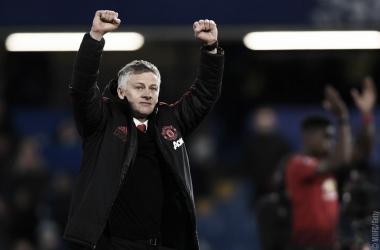 """Solskjaer rasga elogios ao Manchester United após vitória sobre o Chelsea: """"Fantástico"""""""