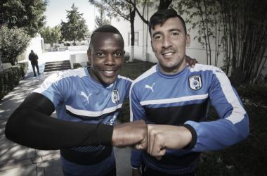 Edgar Benítez y Yerson Candelo ya piensan en Morelia / Foto: Club Querétaro