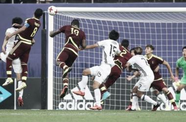 Herrera marcó y mantuvo el sueño intacto para Venezuela / Foto: FIFA.