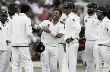Yasir celebrates his five-wicket haul at Lord's (Picture source: AFP)