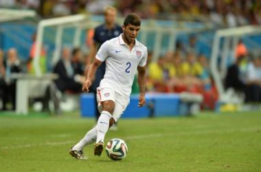 Yedlin in azione contro il Belgio, ai Mondiali è sceso in campo tre volte