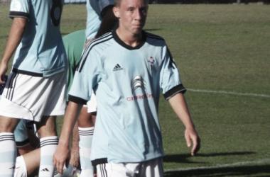 Yelko Pino en el partido contra el Marino en Barreiro (Foto: Tomás Rodríguez | VAVEL).