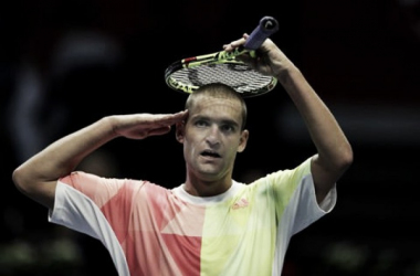 Mikhail Youzhny salutes the crowd in St. Petersburg. Photo: St. Petersburg Open