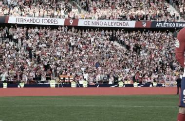Fernando Torres en su despedida en el Metropolitano | Foto: Atlético de Madrid