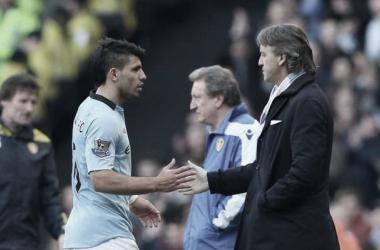 Agüero con Mancini | Foto: Manchester City